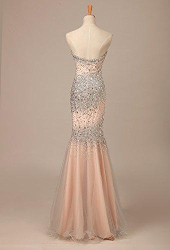 Bridal_Mall -  Vestito  - Senza maniche  - Donna Champagne