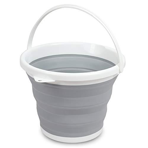 Favson Faltbarer Eimer Wasserbehälter Pop-Up, platzsparend, tragbar, mit Griff -