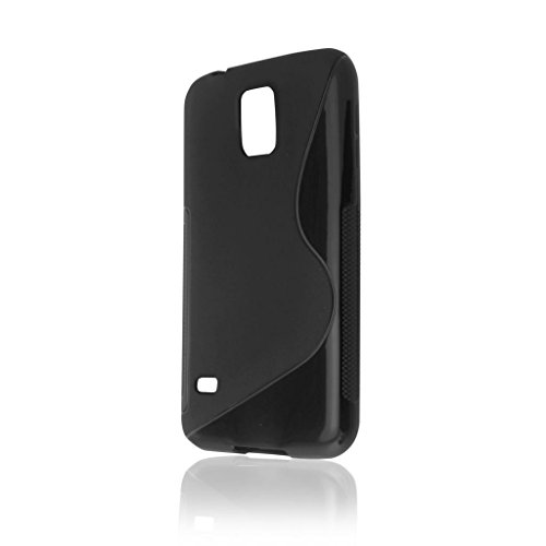 Schwarz S Line Wave Soft TPU Gel Back Case Cover Skin für Samsung Galaxy S5Case Cover Line Wave Tpu Case