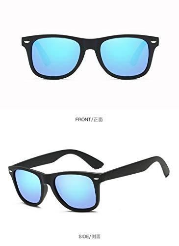 Zjwz polarizzato occhiali da sole trend retro polarizzatore classico signore occhiali unisex driver occhiali da sole,black,iceblue