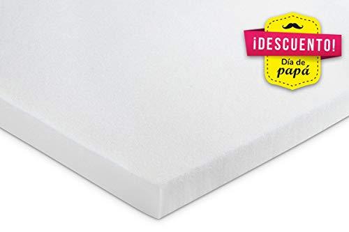 KAMA HAUS Plancha Visco 2 cm | Sin Funda | Top para colchón | Alta Gama | Viscoelástica Premium 50kg/m3 | Ergonómico | Alto Confort y adaptabilidad | 70 x 180 cm. |