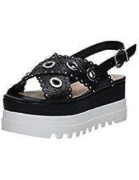 Liu Jo Donna Sandali Zeppa S18065E033222222 Sandalo Platform Fenicottero  Nero 6b7b8fe0883