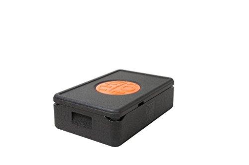 THE BOX *4er Paket Thermobox GN 1/1 klein 79880; schwarz, Außenmaß 60 x 40 x 18,5 cm, Innenmaß 54 x 34 x 12 cm, Nutzhöhe 12 cm, 21 l.