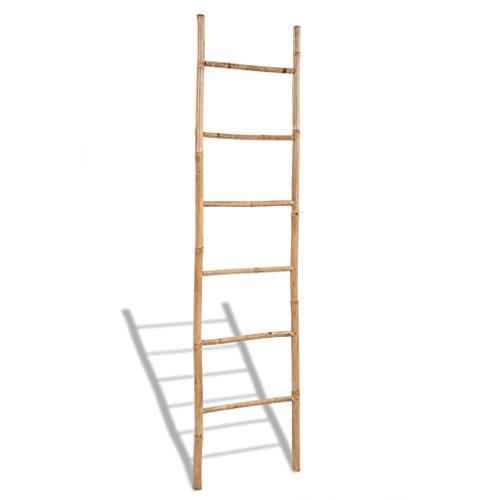 Anself Toallero de Bambú en Escalera Con 6 Peldaños