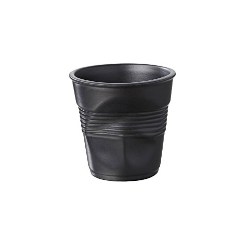 6 Tasses café froissées Noir satiné Revol 12 cl
