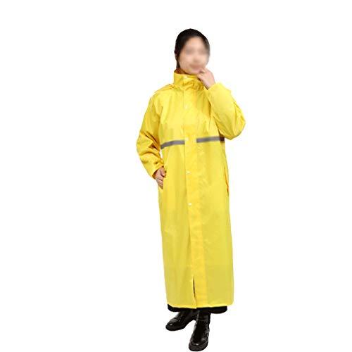 Reflektierender Regenmantel für Erwachsene Erwachsene Mode Reisen Bergsteigen Poncho Verkehr Hygiene Reiten Starker Regenmantel (Color : Yellow, Größe : XXL)