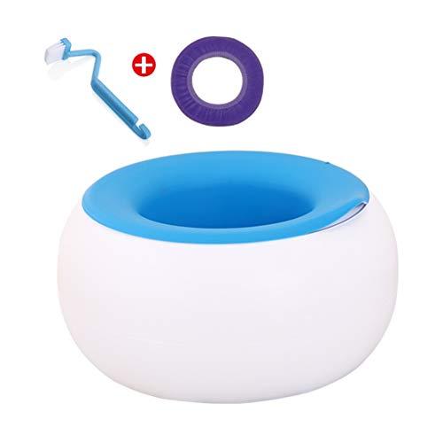 Bathroom mat Urinal 1-5 Anni vasino for Bambini, Materiale Ecologico dei pp 360 Gradi di Progettazione Rotonda Antiscivolo Senza Spine Non danneggia Il gabinetto Pelle, 3 Colori (Color : Blue)