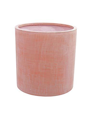 EUROPALMS Übertopf Terracotta-Optik rund 50x50cm | für Außenbereich geeignet | Glasfaser verstärkter Kunststoff