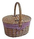 Uppercrust Gro�er Picknickkorb, gef�ttert, Rot Bild