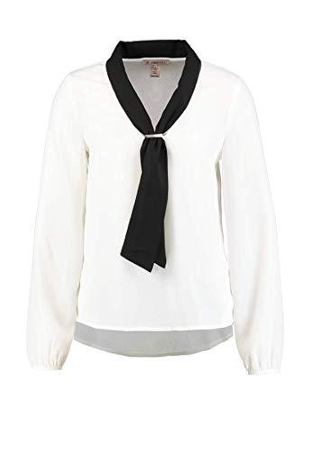 Anna Field Schluppenbluse elegant - Bluse mit Schalkragen für Damen, Größe 36 in Schwarz Weiß
