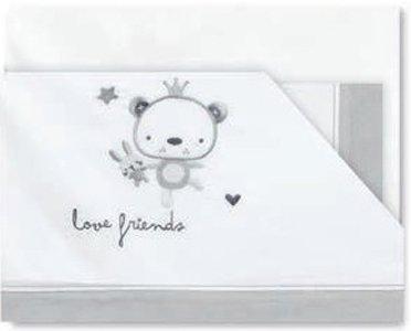Pirulos 00112320 - Sábanas, diseño love, 50 x 80 cm, color blanco...