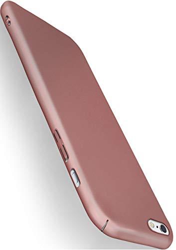 moex iPhone 6S | Hülle Rose-Gold Alpha Back-Cover TPU Schutzhülle Dünn Handyhülle für iPhone 6/6S Case Ultra-Slim Thin Skin Handy Schutz Rückseite