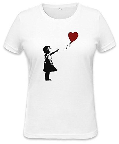 Dc Girls Hoodie (Banksy Balloon Girl Womens T-shirt Medium)