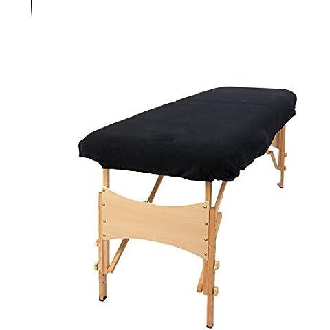 TowelsRus Copertura Aztex Classico per Lettino da Massaggi Senza buco per il viso, Nero Elasticizzato