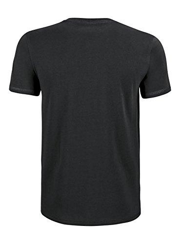 YTWOO Schweres Herren Basic Premium T-Shirt Rundausschnitt (200g/m2) Bio-Baumwolle nachhaltige und Faire Mode Organic Cotton, Schweres Bio T Shirt, Bio Shirt, Biobaumwolle Schwarz