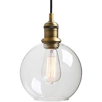 Black Glass Pendant Light Industrial Edison Contemporary Style Lighting for Dining E27 Modern Magic Bean Pendant Light Kactera Ten-Light Chandelier with Clear Globe Glass Shade