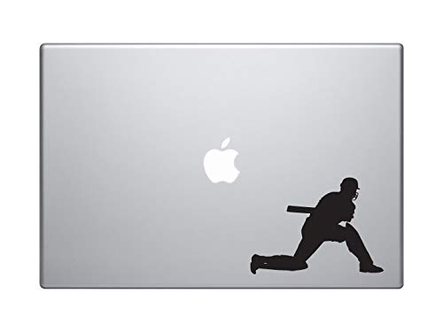 DKISEE Cricket Player #4 - Batter Batsman Shot Score Wicket - Macbook Laptop Vinyl Decal Sticker Wall Sticker Car Decal 8 inch