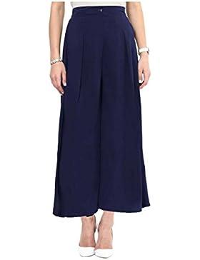 Indian Handicrfats Export Uptownie Lite Regular Fit Women's Dark Blue Trousers