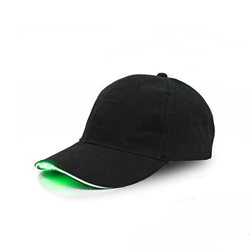 (LED Licht Emittierende Hut Ente Zunge Lampenhaube Nachtclub Party Hut Bühne Performance Cap,Green,F)