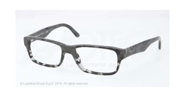 baa4d56a0e24 PRADA Eyeglasses PR 16MV RON1O1 Black Grey Transparent 53MM  Amazon.co.uk   Clothing