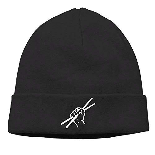 Wfispiy Funny Baseball Caps Hüte Drumsticks Drummer Herren & Damen Beanie Mütze Winter Warm Daily Hat