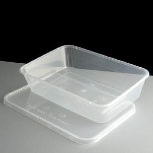 Aliments réutilisables en plastique Idéal pour le micro-ondes, réfrigérateur, congélateur, lave-vaisselle, Capacité: 0,75 litre, contenance 10 pièces