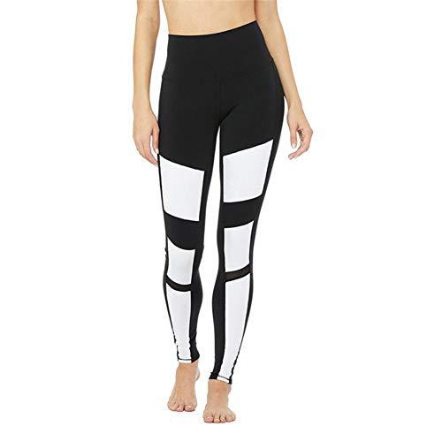 CHUO YUE Neue Frauen es Vier Jahreszeiten Stitching Contrast Color Slim Hips Yoga Pants,M (Legging Frauen 535)