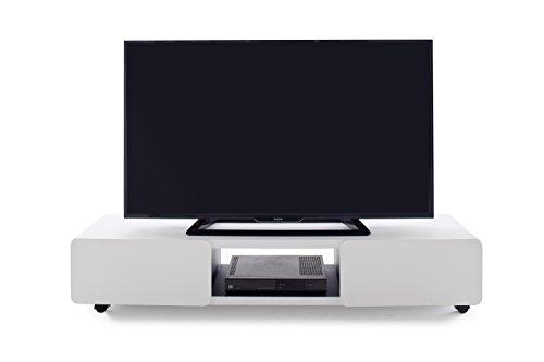 Robas Lund Lowboard Weiß matt TV Möbel mit Melamin beschichtet