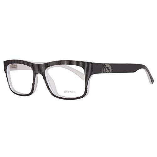 Diesel Unisex-Erwachsene Brille DL5034 005 52 Brillengestelle, Grau