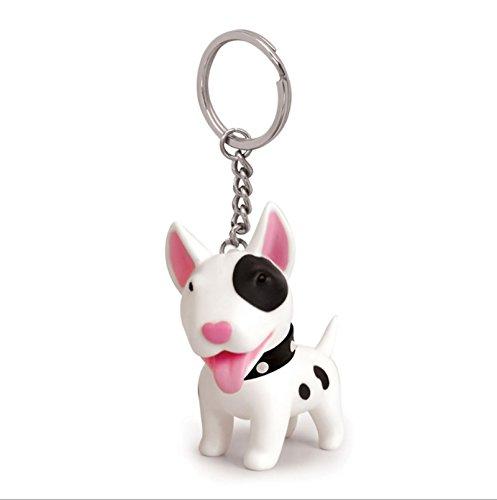 Bishilin gioielli portachiavi in lega cane bianco borsa ciondolo argento portachiavi