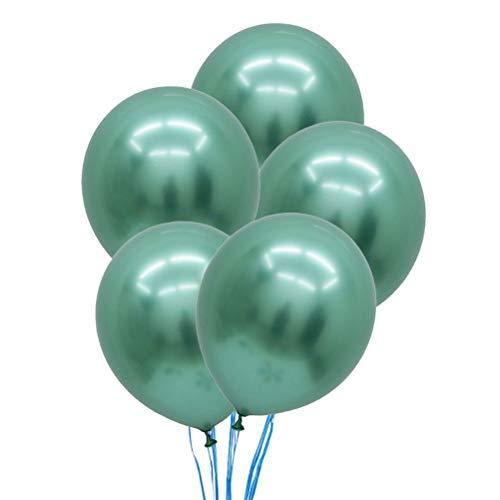 Latex Ballons Metallic Ballon Folienballons Perle Ballons Aluminium für Geburtstag Hochzeitstag Party Festival Baby Dusche Dekoration 12 Zoll (grün) ()