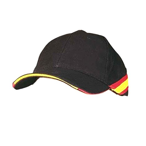 Pc Gorra Negra Bandera España Regulable Padel Golf