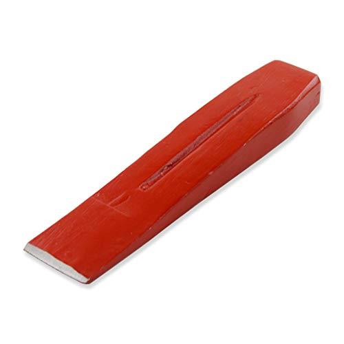 Germania Spaltkeil für Holz 2 kg aus Stahl rot   Fällkeil zum Spalten von Kaminholz