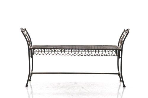 CLP Gartenbank SHERAB im Landhausstil, aus lackiertem Eisen, 125 x 43 cm (aus bis zu 6 Farben wählen) bronze - 3