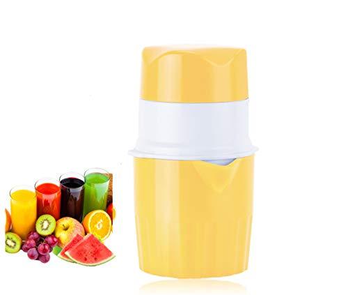 Wolfcam Zitronenpresse Saftpresse Manuell Zitruspresse Hand Entsafter für Orange Lemon Weintraube Apfel Wassermelone, Orangenpresse mit Behälter und Deckel & Filter