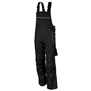Qualitex Pro arbeits-latzhose MG 245 - Black - Size: 56