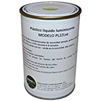Plastico liquido luminiscente potente - Capacidad - 250 grs, Clase - Potencia L, Color - Amarillo pálido con luz/Verde en la oscuridad