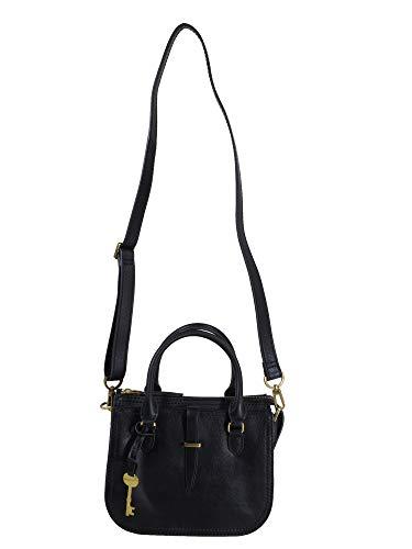 Fossil Damen Handtasche Tasche Ryder Mini Satchel Leder Schwarz ZB7587-001 - Damen-fossil Handtaschen