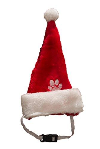 Hund Weihnachtsmütze mit Gummiband Nikolausmütze Hund Katze Santa Mütze Hunde ( Kleine Hunde ) (Hund Weihnachtsmütze)