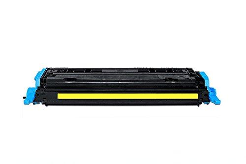 QUADROPRINT Toner ersetzt HP Q6002A 124A Gelb, ca. 2.000 Seiten, für HP Color Laserjet 1600 2600 2605, Color Laserjet cm 1000 1015 1017, Laserjet CP 2600 DN DTN MFP N Series -