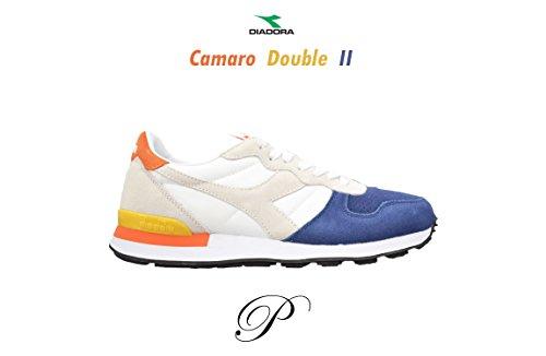 Diadora, Uomo, Camaro Double II, Suede/Nylon, Sneakers, Bianco Bianco
