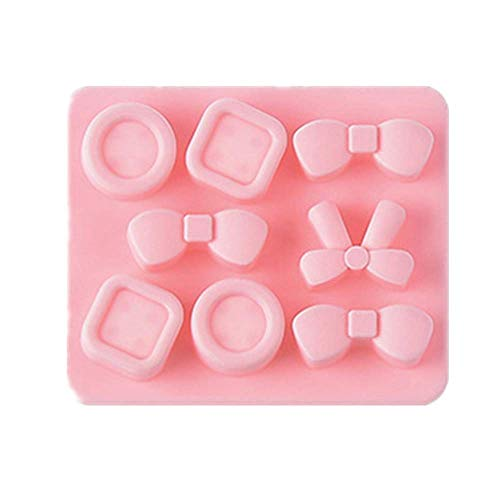 lyward Bogen Candy Button Shape Ice Cube - Silikon Eiswürfelform Pink, 2Er Pack (Candy Bogen Mold)