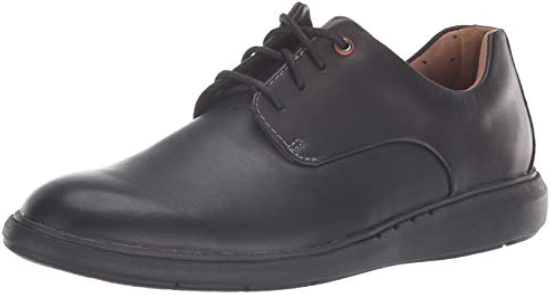 Clarks Men's Un VoyagePlain Oxford, nero Leather, 090 M US | Forma elegante  | Maschio/Ragazze Scarpa