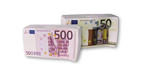 Dakota - Set 2 Huchas Billetes 50 500 Euro 16 cm -