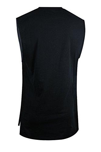 trueprodigy Casual Herren Marken Tank Top einfarbig Basic, Oberteil cool und stylisch mit Rundhals (Ärmellos & Slim Fit), Muscle Shirt für Männer in Farbe: Schwarz 1073181-2999 Black