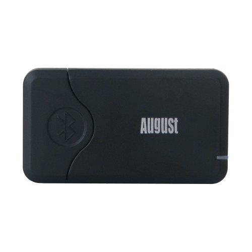 August MR240B - Bluetooth Audio Adapter / Musikempfänger für Audiogeräte - Plug & Play Receiver- kabelloses Musikstreaming von jedem Bluetooth-Gerät auf Ihr Radio, Lautsprecher, Autoradio und Apple iPhone / iPod Docks - Schwarz (Ipod Dock Station)