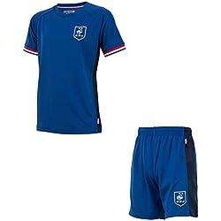 Equipe de FRANCE de football Maillot + Short FFF - Collection Officielle Taille Enfant garçon 14 Ans
