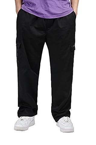 Spring Autumn New Men Plus Size Cargo Pants KingSize Hip Hop Trousers Black XL