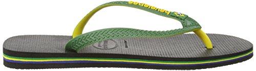 Havaianas Brasil Mix, Tongs Adulte Mixte, Multicolore (Black 0090) Multicolore (Black 0090)