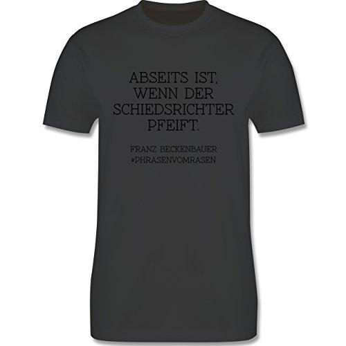EM 2016 - Frankreich - Abseits ist wenn der Schiedsrichter pfeift - Herren Premium T-Shirt Dunkelgrau